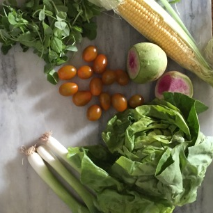 Fresh Summer Salad with Tangy Buttermilk Lime Herb Dressing   The Dinner Party Collective