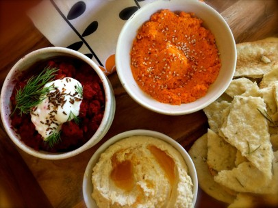 Trio of Root Vegetable Dips   The Dinner Party Collective