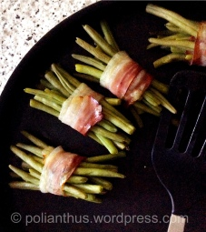 Bacon Wrapped Green Beans | Spring Menu | The Dinner Party Collective