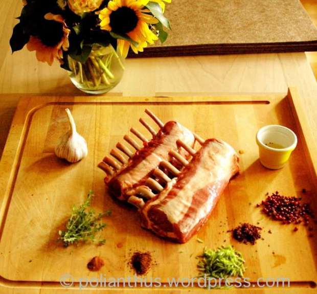 Lemon Thyme Lamb Racks with Goat Cheese Aioli | The Dinner Party Collective